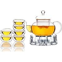 TAMUME Classico Vetro Servizi da Tè Teiere e Caraffe per