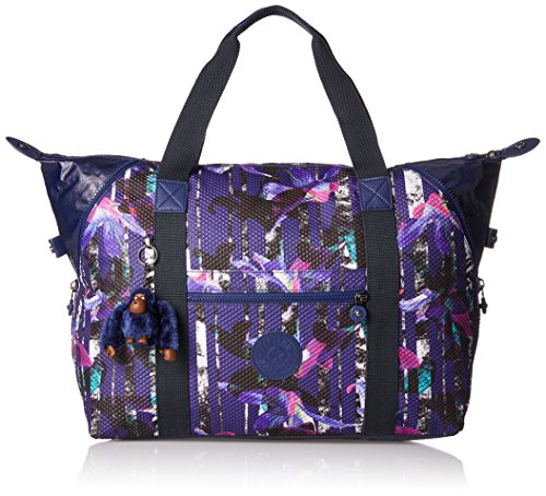 Kipling - ART M - Borsa da viaggio media - Black - (Nero) Multicolore (Urban Flower Bl)