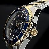 """Gigandet Herren Automatik-Armbanduhr """"Sea Ground"""" Analog Edelstahlarmband Blau Gold G2-001 - 6"""