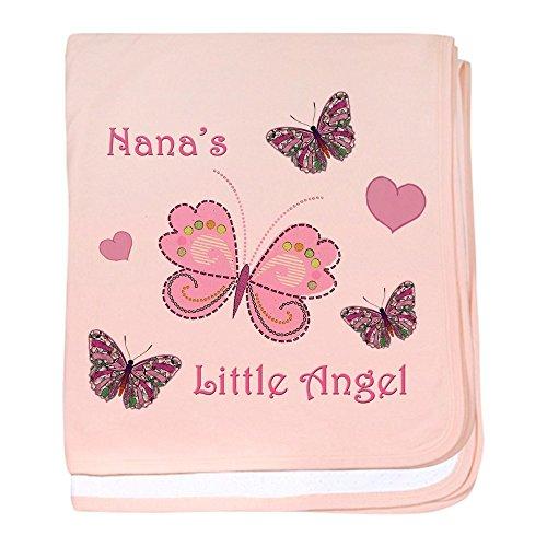 CafePress-Nana 's Angel-Baby Decke, Super Weich Für Neugeborene Wickeldecke petal pink -