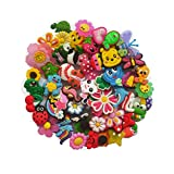 YAOYAO PVC Different Shoe Charms for Croc & Bracelet Wristband Kids Party Birthday Gifts (50 PCS)