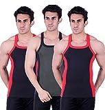 Zimfit Gym Vest - Pack of 3 (Black_Green...