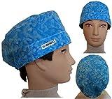 Surgical caps, Haube, kappe, Medizinische, küche, Für kurze Haare. Blaues Wasser. Mit Ihrem Namen auf freie Optionen