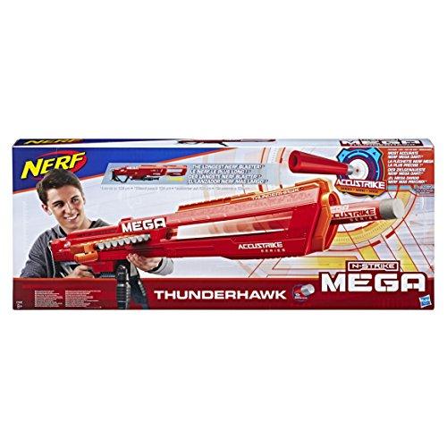 Nerf E0440EU4 N-Strike Mega AccuStrike Series Thunderhawk, Multi-Colour Best Price and Cheapest