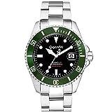 Gigandet Automatik Herren-Armbanduhr Sea Ground Taucheruhr Uhr Datum Analog Edelstahlarmband Schwarz Grün G2-005