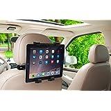 Okra, supporto con 360° gradi di rotazione, regolabile, per poggiatesta auto per iPad, Samsung Galaxy, Motorola Xoom, e tutti i tablet fino a 10,1 pollici