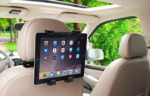 Okra 360° Grad verstellbar drehbar Kopfstütze Auto Sitz Halterung für iPad, Samsung Galaxy, Motorola xoom, und alle Tablets bis 25,7cm