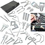 Kit de herramientas de extracción de radio, CD y estéreo de coche de Reelva, kit de 36 llaves