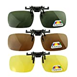 GoldFox 3x Men Women Polarized Polarizer Polarizing Sunglasses Myopia Night Vision Glasses Convenient Clip-on Mirror