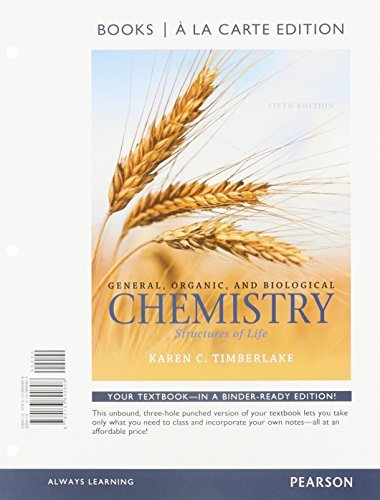 General, Organic, and Biological Chemistry: Structures of Life, Books a la Carte Plus MasteringChemistry with eText -- Access Card Package (5th Edition) by Karen C. Timberlake (2015-01-08)
