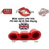 Fuller Lips Aumentador De Labios Bomba up tus labios Ciruela Pout Succión Aparato Set Regalo - Rojo, Grande