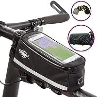 BTR Deluxe Fahrrad-Tasche Handy-Halterung Lenkertasche, Rahmentasche Wasserdicht
