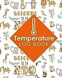 Temperature Log Book: Cooling Temperature Log Sheet, Refrigerator Temperature Log For Vaccines, Fridge Freezer Temperature Chart, Temperature Log Sheet, Cute Zoo Animals Cover