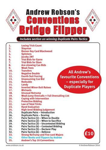 Andrew Robson's Conventions Flipper (Bridge Flipper)
