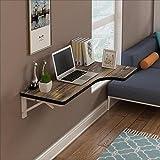 Nan an der Wand befestigter Tabellen-Computer-Schreibtisch-Wand-Tabellen-Anmerkungs-Schreibtisch Gegen die Wand-Tabelle Regale (Farbe : D, Größe : 80 * 50cm)