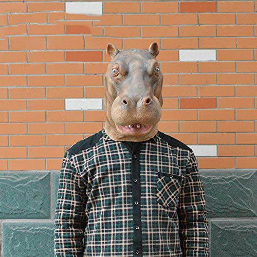 XIAO RUI Hippo Maske Halloween Horror Latex Maske Tierkopfbedeckung Maske Parodie Cosplay Kostüm Maske, Einheitsgrösse