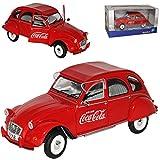 alles-meine.de GmbH Citroen 2CV 6 Rot Coca Cola Edition Ente 1949-1990 1/18 Solido Modell Auto mit individiuellem Wunschkennzeichen
