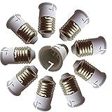 DZYDZR 10 PCS E27 auf B22 E26 Lichtsockel Adapter Konverter Basis, passt LED/CFL Glühbirnen, hitzebeständig, Anti-Brennen, keine Brandgefahr
