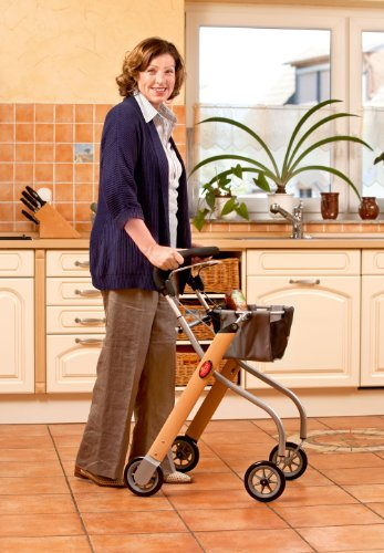 Trust Care 9320 Wohnraum - Rollator Let\'s Go in Holz/Silber Optik