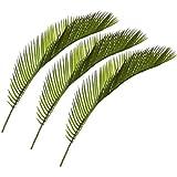 3 er Set 41 cm Cycas künstlicher Palmwedel, Dekotopf, Laub