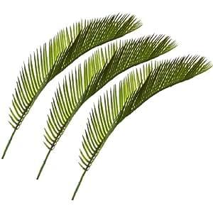 Foglie di palma decorative, confezione da 3 pezzi, dimensione: 41 cm