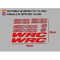PEGATINAS CONNOR WRC F120 VINILO ADESIVI DECAL AUFKLEBER КЛЕЙ MTB STICKERS BIKE (ROJO)
