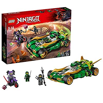 LEGO 70641 NINJAGO Ninja Nightcrawler, Toy Bike and Car with Shooter Function, Masters of Spinjitzu Building Set
