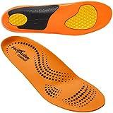 FootActive Fuüball - Biomechanische Einlegesohlen für Fuüball, Hockey, Radsport und alle schmalen Alltagsschuhe-Orange (Orange), 43 - 44 (L)