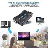 Gugutogo VGA zu Scart-Konverter Video Converter Tragbare Video Digital Switch Box