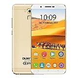 Oukitel U16 Max Smartphone 4G Android 7.0 Unlocked 3G Téléphone Portable Mobile Batterie 4000mAh Charge Rapide Écran de 6.0 pouces HD 720P 3Go RAM 32Go ROM 13MP Caméra Touch ID MTK6753 1.3GHz Octa Core or