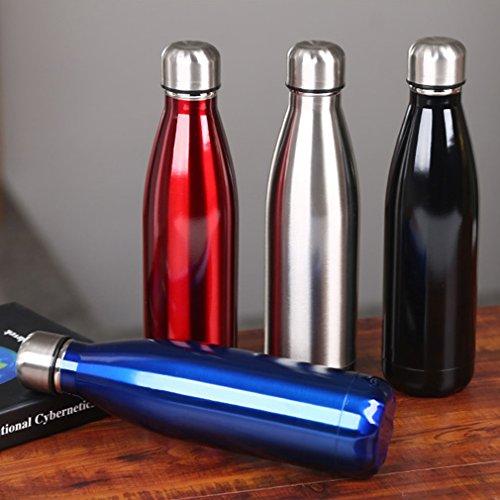 500 ml Termo botella Deportiva copa taza vacío de acero inoxidable Hermético Botella Térmica Bolos/Bowling para Agua evita fugas y derrames