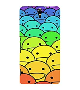 EPICCASE ColourFull Smilies Mobile Back Case Cover For Sony Xperia C5 Ultra Dual (Designer Case)