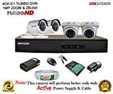 #9: HIKVISION DS-7204HGHI-E1 Turbo HD 4CH DVR + HIKVISION TURBO DOME BULLET CAMERA 4Pcs + 1TB HDD + ACTIVE 3+1 CABLE + ACTIVE POWER SUPPLY (FULL COMBO)