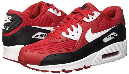 Nike Herren Air Max 90 Essential Low-Top, Rot (Gym Red/White-Black-White), 45 EU -