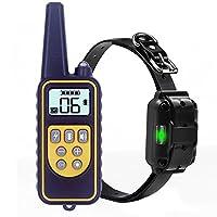 Tobaling Colliers de Dressage pour Chien 800 Mètres Collier d'entraînement Anti-aboiement avec Télécommande Rechargeable et IPX7 Entièrement Imperméable