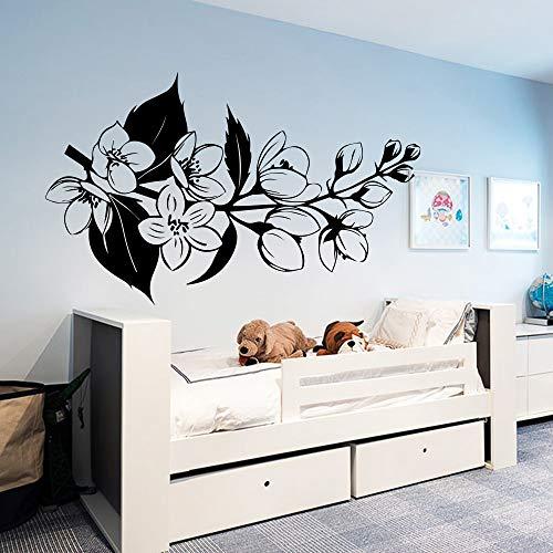 Divertente Fiori Adesivi in   vinile Carta da parati per la decorazione della casa Soggiorno Camera da letto Decor Murale Wallpapers Decal 93cm X 58cm