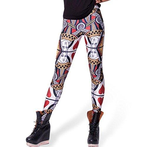 öhnlich Poker Königin der Herzen Leggins Dünne Hose Winterbekleidung (Königin Der Herzen Kleid)