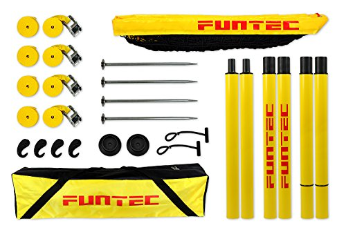 Preisvergleich Produktbild Funtec Beach Champ Set - transportable Beachvolleyball-Netzanlage mit Profinetz