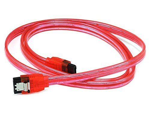 C&E CNE567532 SATA-Kabel mit Verschlussriegel, 45,7 cm, 6 Gbit/s, UV-Grün rot 36Inch (Single Pack) -