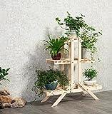 ZHDC® Blumen-Racks, Balkon Massivholz Mehrere Schichten Topfpflanzen Wohnzimmer Innen Blumenregal Blumen-Topf-Rack Stabiler, starker Speicherplatz ( Farbe : #2 , größe : 85*26*85cm )