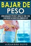 Bajar de peso: Cómo adelgazar y perder 7 libras en 7 días- Todo lo...