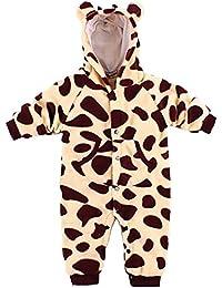 Baby Strampler Kuschel Tiere 'Fleece'   Babystrampler langarm   Giraffe, Zebra, Elefant, Hase