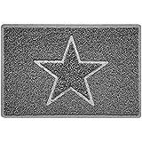 Nicoman STAR reliëf vorm deurmat Dirt-Trapper Jet-wasbare deurmat - (gebruik binnen of beschut buiten) - (60x40cm/23.6x15.7in