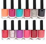 Trendy Colors Nail Enamels - Combo Of 12 Pcs (Nail Paint Set ) (Pack of 12)