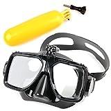 DuraGadget - Taucherbrille mit Halterung für Rollei Actioncam 430, Actioncam 425, Actioncam 415, Actioncam 330 und Actioncam 300 Plus - inklusive gelbem Schwimmkörper (Floaty Bobber Boje)