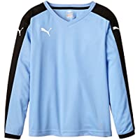 Puma T-Shirt Pitch Long Sleeve - Camiseta, Color Azul (Team Pearl Blue/Black), Talla de: 164