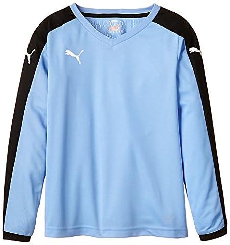 PUMA t-shirt à manches longues pour enfant pitch 9-10 ans Bleu - Team Pearl Blue/Black