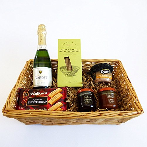 Champagne & Nibbles Luxury Food and Drink Gift Tray - Gift Ideas for Mum, Valentines, Mothers Day, Birthday, Wedding, Business and Corporate