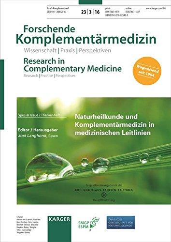 Naturheilkunde Und Komplementarmedizin in Medizinischen Leitlinien