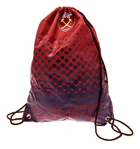 Beutel, Tasche, Turnbeutel mit Kordelzug, Fußball Team, schwimmen (verschiedene Vereine zur Auswahl), West Ham United FC, 45 x 34cm